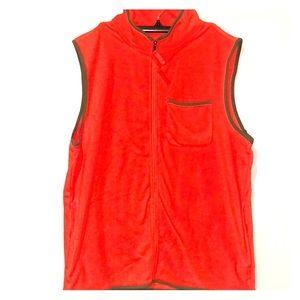 Men's orange fleece vest
